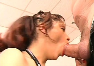 Three horny studs take turns on a young slut's amazing meat wallet