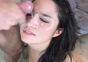 Adorable Asian girl gets her juicy snatch licked, fingered and fucked
