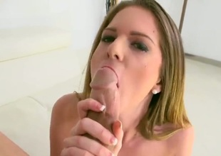 Petite brunette babe that goes by the name of Stacey Devine is going to get her cock craving snatch some white meat. Hes going to smash that fuck hole of hers real good