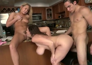 Sara Jay and Carter Cruise in threesome