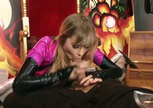 This is a Sci-fi fantasy staring Molly Bennett and Ramon. Blonde cheerleader has to save the world and suck the evil mans energy out of him. hard frenzied sex as they battle, their only weapons are his massive hard cock and her tight twat and hot mouth.