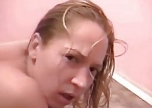 Slut Gets Mouth Urinated In WHILE Giving Blowjob