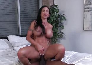 Busty babe Jewels Jade takes on this huge cock