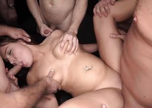 Wild huge Creampie Teen gets gangbanged