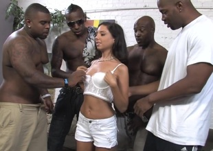 Small tits brunette strips her short for hardcore interracial anal fuck to buy i-phone
