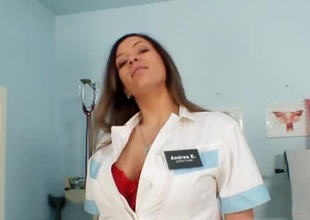 Busty nurse Stella Fox nice big zeppelins