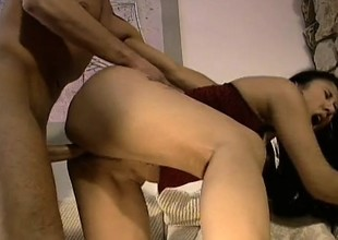 Oriental cutie with a lovely ass and nice tits gets nailed by a white guy