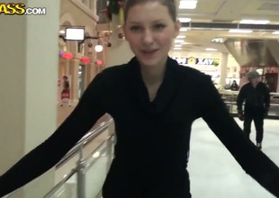 We met young and intelligent cutie Vera in the local mall and invited her for a figure skating lesson. Babe willingly agrees. She looks very happy, maybe it will help us to fuck this chick.