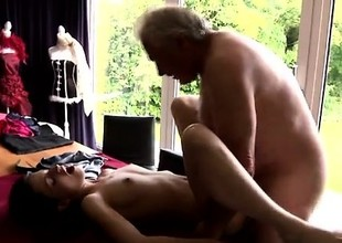 Young boy uncut dick handjob Horny senior Bruce catches sigh