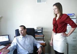 Shyla Ryder screwed by her boss in the ass