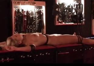 Teen tied and fucked in bdsm torment room