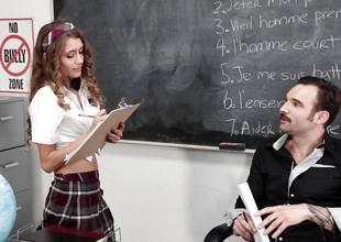 Rebel Lynn comes onto her teacher