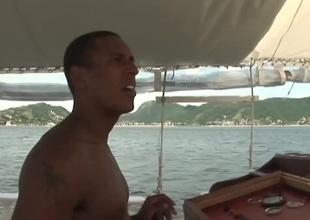 Slim girl On A Boat