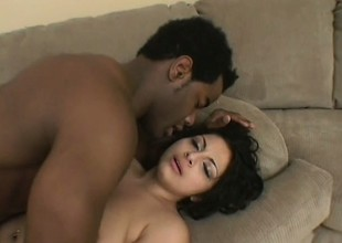 Seductive Latina with a superb ass knows her way around a black cock