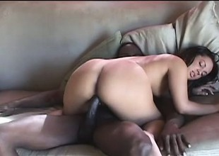 Sultry ebony girl with a perfect body Victoria Allure loves black cock