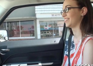 Tali Dava gets talked into boning a stranger in his car