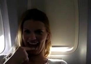 Airplane Teen Masturbates