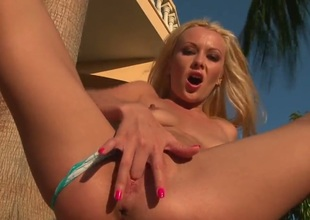 Blonde chick Logan meet this morning spreading her legs wide to feel warmth of the first sunrays. Her beautiful pink pussy is so wet and tasty. It needs to be pounded hard.