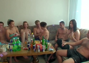 What can be better then college party where there are many alcohol and young babes with insatiable desire to fuck. All group mates get together and begin their unforgettable party