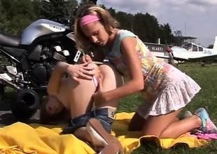 Young lesbo biker girls