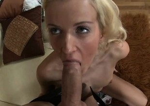 Naughty young Monica wasn't prepared for such a rough anal banging