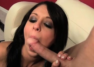 Cum addict Madelyn Monroe swallows a load at the end of this session