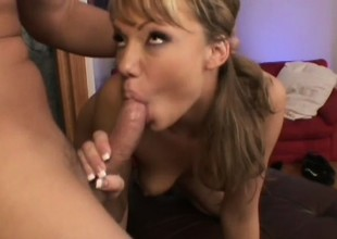 Cum-drinking Maya Hills is addicted to getting her pussy creamed
