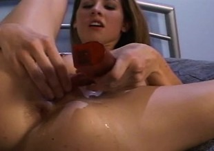 Lisa Marie begs this stud to fuck her as violently as he can