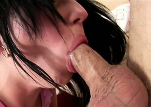 Trashy Valerie begs to have her pussy lips stretched apart by her man