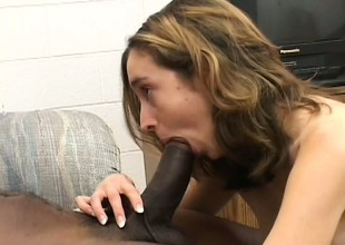 Hot to trot bunny gets picked up and tapped by a black guy's shaft