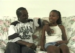 Skinny black teen enjoys her first paid sex session