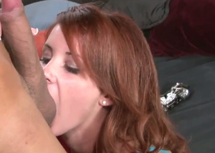 Tweety Valentine is a stunning redhead and she is getting her alluring pussy licked by her new boyfriend. When she is nice and wet, she climbs on that cock and gives it a ride.