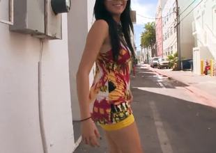 Young handsome sexy guy with a fit body is seducing a gorgeous women Megan Foxx, who he just met at the street. He makes her suck his big and tasty cock.