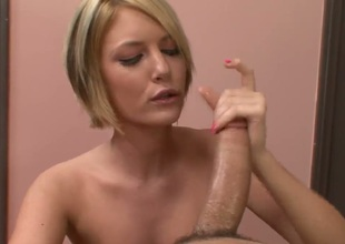 Riley Ray loses control after Anthony Hardwood inserts his sturdy snake in her mouth