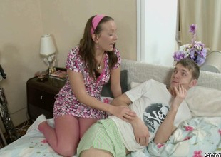 Step-Sister helps Step-Bro to Feel good with Ass-Fuck
