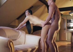 Anna Rose in a vehement noon sex