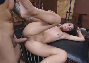 Horny hottie babe Gina Valentina getting wet and w