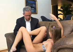 Aurora Snow is a nasty college babe eager to get fucked by two guys