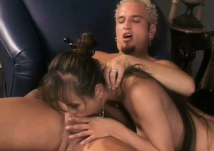 Dirty Oriental tramp gets her holes abused in a nasty hardcore romp