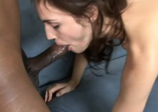 This big black cock fills Faith Leon better than any cock before it