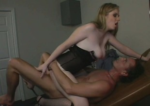 An innocent college babe goes to the doctor for help having an orgasm