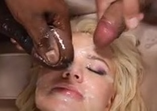 Cum Slut getting massive Facial