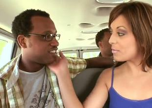 Hungry for dicks chicks Ashli Orion, Audrianna Angel and Jenna Presley are pick uping sexy boyfriends. Sweethearts invite them to get in their car and start to seduce them with hot charms.