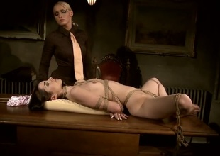 Blond Jeanine Hot gets her honeypot licked outrageously by Kathia Nobili
