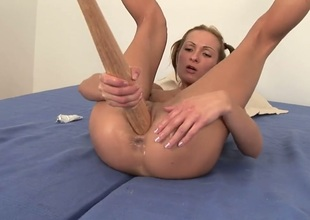 Blonde Angela Winters gets humped silly by sex crazed gent
