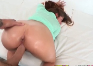 Brunette Teddi Rae gives unthinkable oral pleasure to hot bang buddy by sucking his ram rod