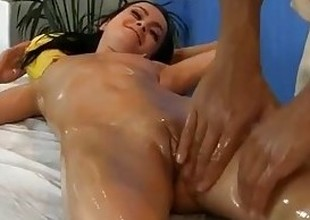 young dark brown fucked during a massage