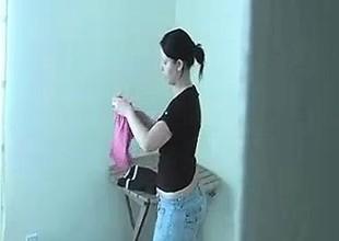 Neighbor Shoots Her Loads Of Cum From Her Closet