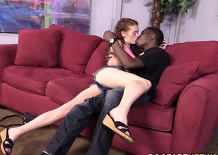 Alice Green Gets Her Teen Pussy Banged By Black Men